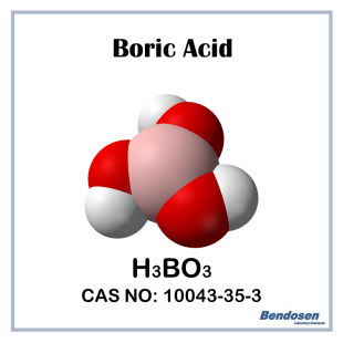 (P) Boric Acid AR, 500 gm, Bendosen