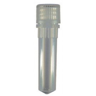 2.0 mL Conical Screw Cap Microcentrifuge Tube and Cap With O-ring, Polypropylene, Clear Cap, Sterile