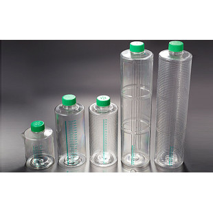 1000ml General,  Non-treated Roller Bottles, Approximate Cell Growth Area: 490c㎡, Working Volume: 100-150ml, Standard Cap, 1/24 Per Box, Biofil
