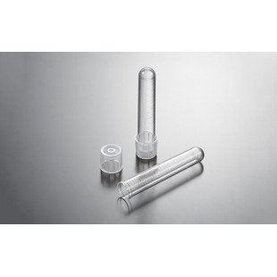 14mL Polypropylene,Clear, 17*100mm Round-Bottom Tubes with Dual-position Cap, N Sterile, 50/500 Per Bag, Biofil