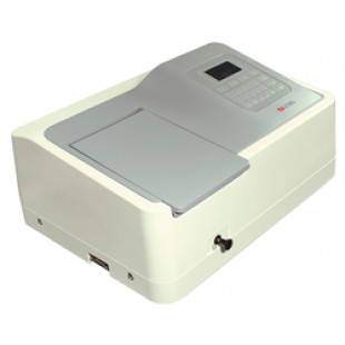 Spectrophotometer, 190~1100nm Tungsten Lamp & Deuterium Lamp, Including 4 Glass Square Cuvettes and 2 Quartz Square Cuvettes (Package Contain), DLAB