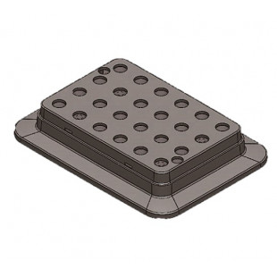 Heating Block Used for 0.5 mL Tubes, 24 Holes for Thermo Mix, DLAB