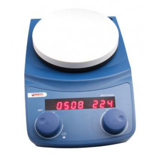 5'' LED Magnetic Stirrer with Timer, Power: 40W, Speed Range: 50-1500rpm, Brushless DC Motor, 1.7kg, Four E's Scientific