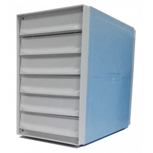Stackable ABS Histology Tissue Cassette Storage Cabinet, Made of ABS, 6 Drawers, Four E's Scientific