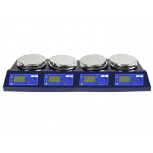 4 position Magnetic Stirrer with hotplate, 100-1500rpm