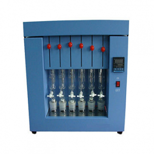 Crude fat meter 300W, RT-100 °C, six samples, semi-automatic, 55kg, 50cm x 87cm x 82cm, JKI
