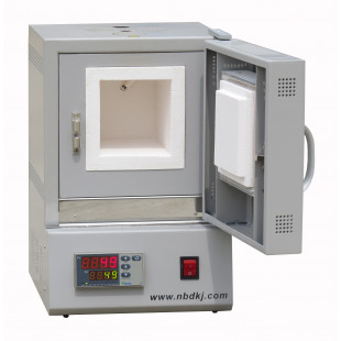 1200℃ CE Certified Compact Muffle Furnace LED Display NBD-M1200-10IC, 1.0KW Power, NBD Material Science and Technology