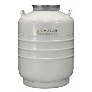 Large Caliber Liquid Nitrogen Cylinder, No Canister, Capacity 35.5L, Empty Weight 15.3kg, YDS-35-200, Chart