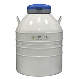 Liquid Nitrogen Cylinder For Storage (Large) , With 6ea. 120 mm High Canisters, Capacity 47L, Empty Weight 19kg, YDS-47-127, Chart