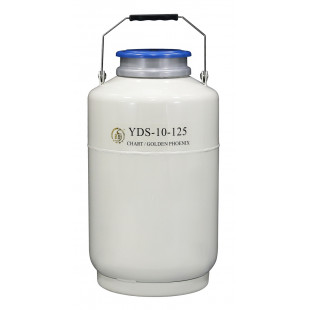 Large Caliber Liquid Nitrogen Cylinder, No Canister, Capacity 10L, Empty Weight 7.2KG, YDS-10-125, Chart
