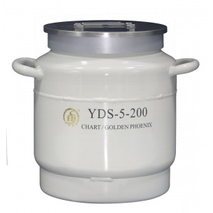 Large Caliber Liquid Nitrogen, No Canister, Capacity 5L, Empty Weight 5.3L, YDS-5-200, Chart