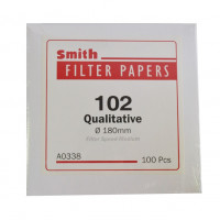 Filter Paper 102 Qualitative Medium Speed, D-9.0 cm, 100pcs/box, Smith (5pcs/pack)