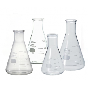 Conical Flask, 10 mL, Narrow Mouth with Rim, Borosilicate, Pyrex / Iwaki 4980FK10 (10pcs/pack)