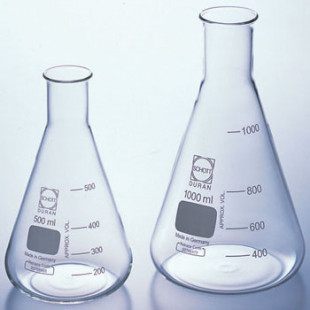 Conical Flask 500 mL, Narrow Mouth, Borosilicate, Duran (4pcs/pack)