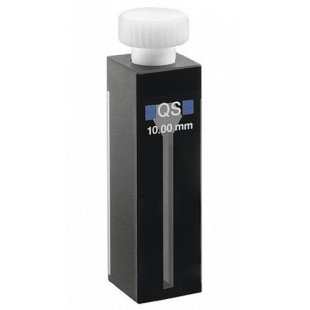 Black Closed Micro Quartz Cell(sealed micro sample cell) , ( 3500ul)